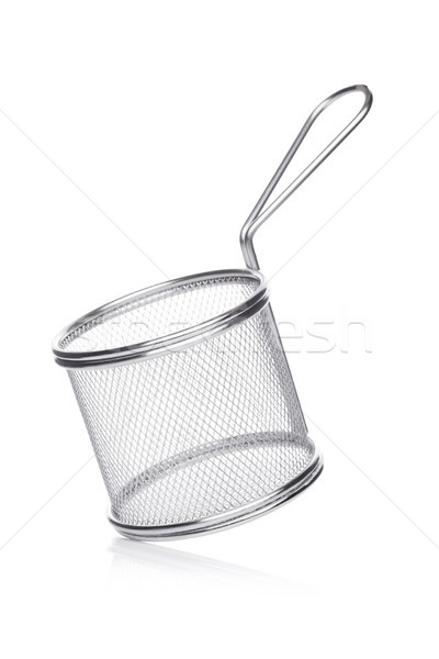 Acero inoxidable cesta blanco metal oro Foto stock © DenisMArt