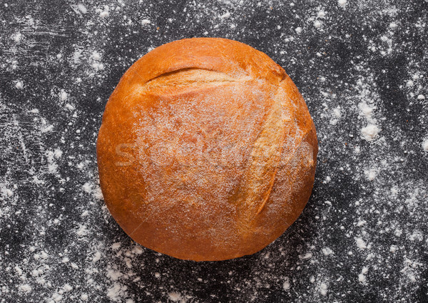 Freshly baked gluten free organic bread with flour Stock photo © DenisMArt