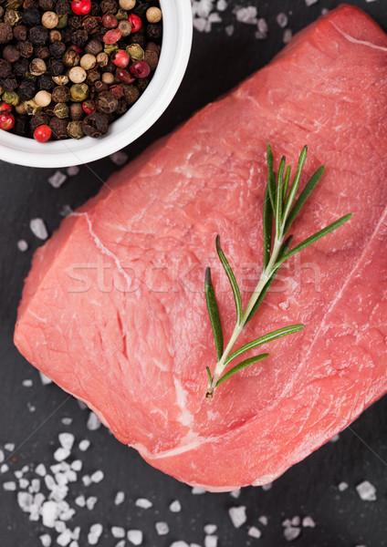 свежие сырой мяса каменные совета Сток-фото © DenisMArt