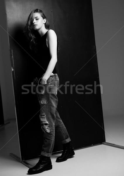 ストックフォト: モデル · テスト · 小さな · 美しい · ファッション · 着用