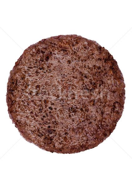Stockfoto: Vers · groot · rundvlees · hamburger · geïsoleerd