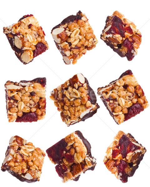 Proteína cereal energia mini barras nozes Foto stock © DenisMArt
