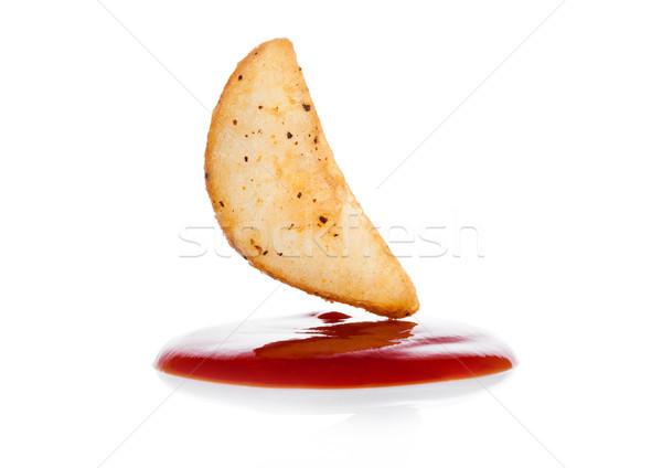 приготовленный пряный картофеля кетчуп макроса Сток-фото © DenisMArt