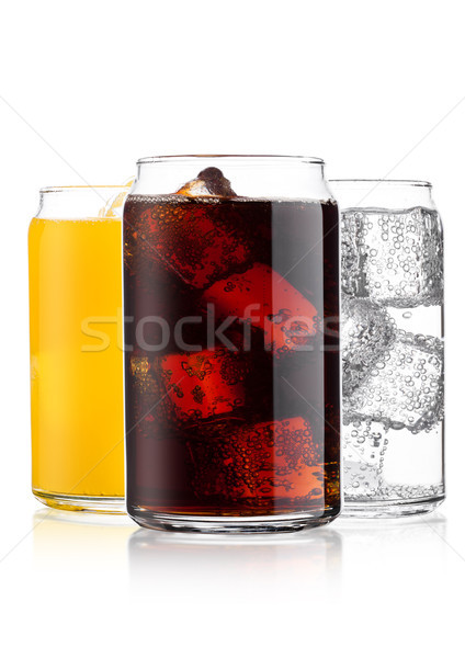 Bril cola oranje soda drinken limonade Stockfoto © DenisMArt