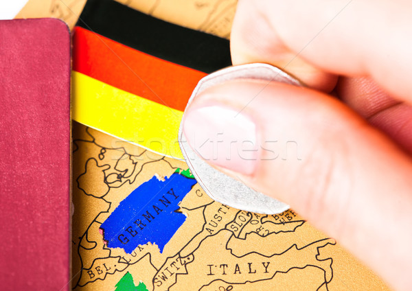 Travel holiday to Germany concept with passport Stock photo © DenisMArt