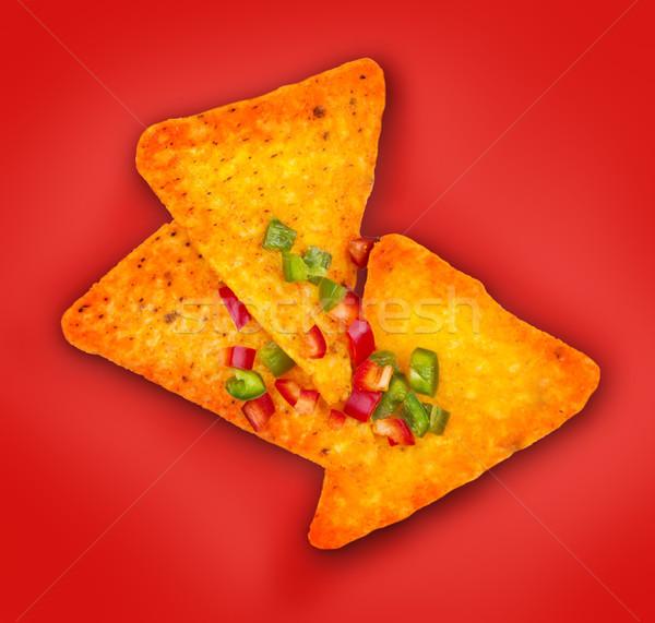 メキシコ料理 トウモロコシ ナチョス チップ ホット 唐辛子 ストックフォト © DenisMArt