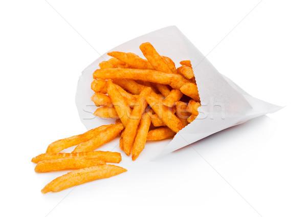 Południowy frytki torby papierowe pojemnik papryka soli Zdjęcia stock © DenisMArt