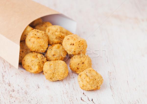 Carta contenitore croccante pollo popcorn Foto d'archivio © DenisMArt