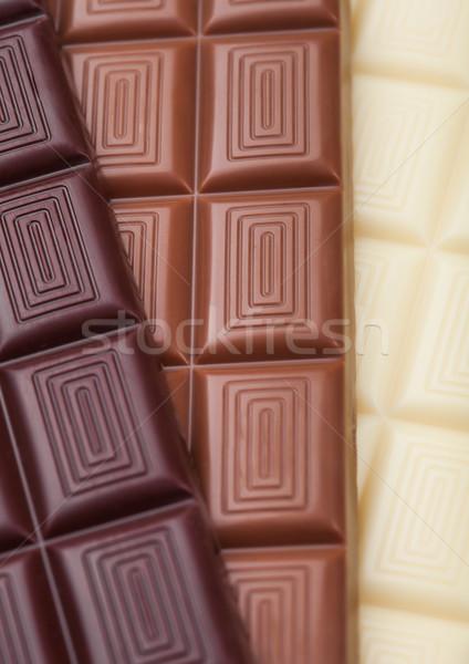 Bar bianco latte buio amaro cioccolato Foto d'archivio © DenisMArt