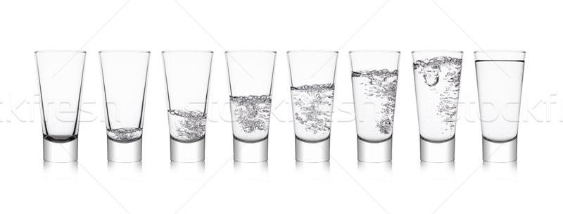 Elegante gafas saludable agua burbujas blanco Foto stock © DenisMArt
