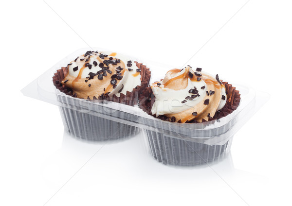 Fresh cupcakes muffin with caramel and chocolate  Stock photo © DenisMArt