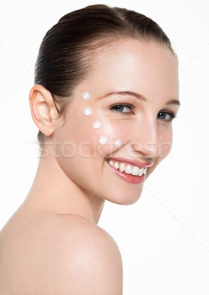 Szépség nő egészséges kozmetikai smink portré Stock fotó © DenisMArt