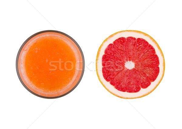 Friss organikus grapefruit dzsúz üveg felső Stock fotó © DenisMArt