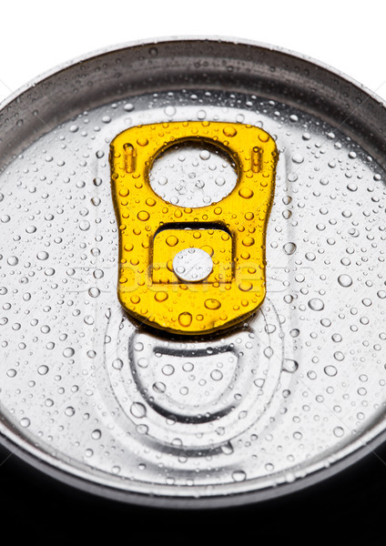Aluminium soda drink tin top view with dew drops Stock photo © DenisMArt