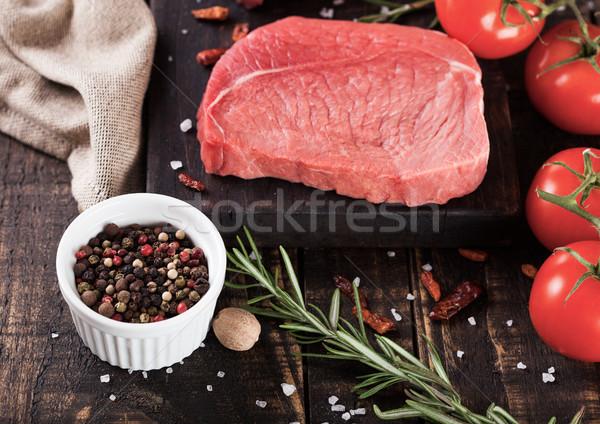 Fresco bife carne Foto stock © DenisMArt