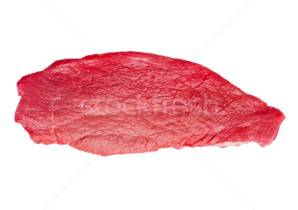 Fresh raw beef steak isolated on white Stock photo © DenisMArt