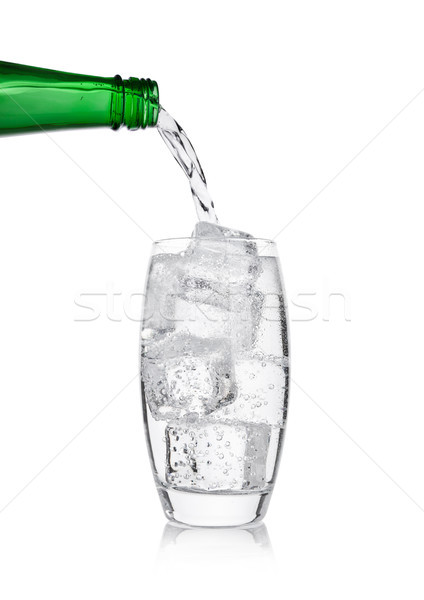 Limonade soda drinken fles glas Stockfoto © DenisMArt