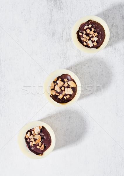 Lujo blanco chocolate variedad Foto stock © DenisMArt