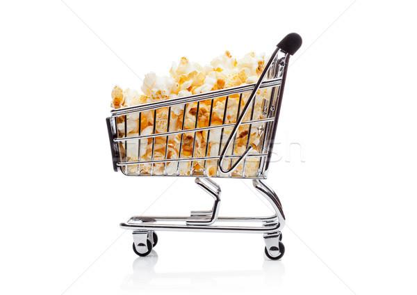 Pipoca salgado doce carrinho de compras compras Foto stock © DenisMArt