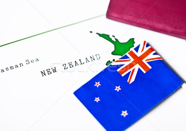 Travel holiday to New Zealand concept with flag Stock photo © DenisMArt