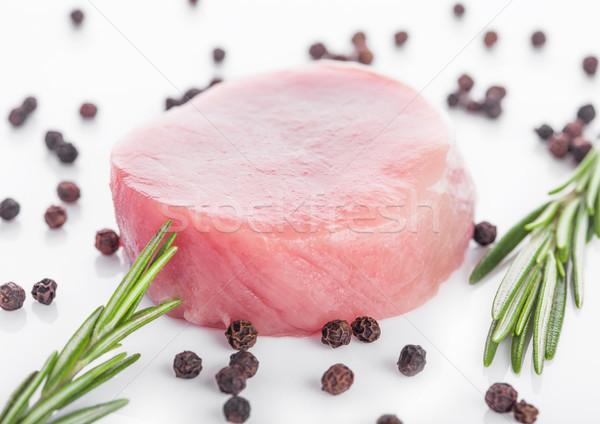 Carne de porco bife fatias pimenta fundo Foto stock © DenisMArt