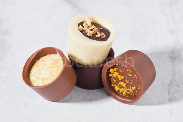 Luxury white and dark chocolate candies variety  Stock photo © DenisMArt