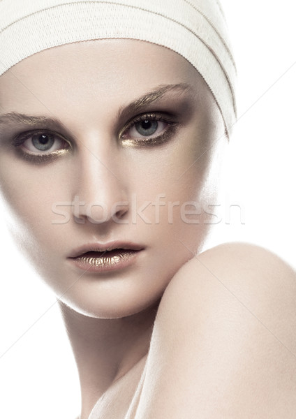 Beauty girl bandage plastic surgery make up face Stock photo © DenisMArt