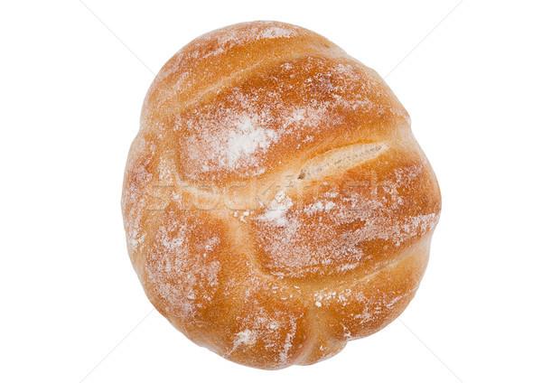 Fresh breakfast bread roll isolated on white Stock photo © DenisMArt