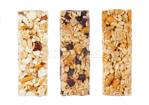 Protein cereal energy bars with nuts and caramel Stock photo © DenisMArt