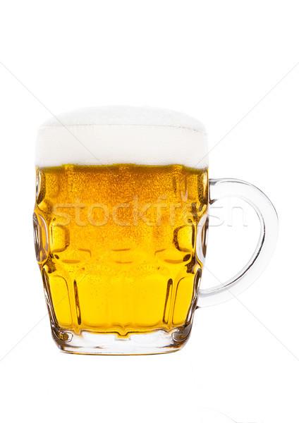 Stok fotoğraf: Soğuk · cam · alman · birası · bira · köpük · kabarcıklar