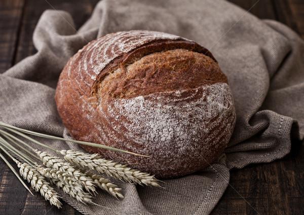 Pan cocina toalla trigo Foto stock © DenisMArt