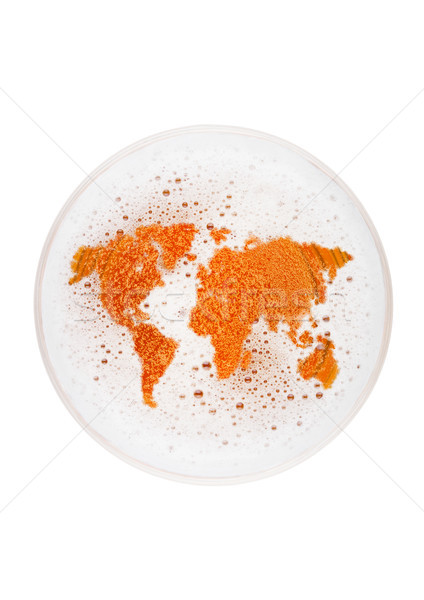 Glass of lager ale beer top with earth shape Stock photo © DenisMArt