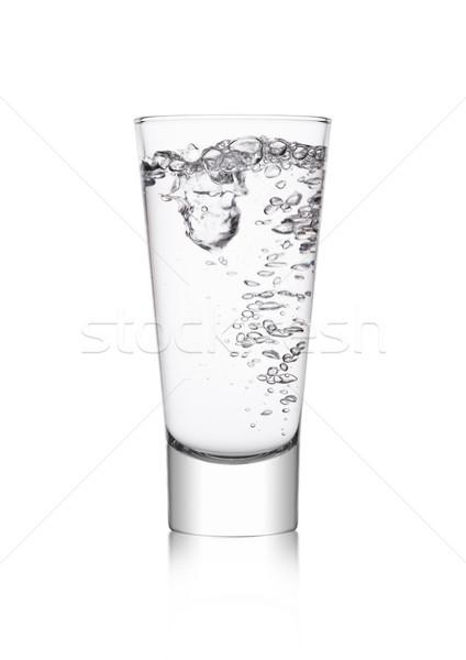 Elegante vidrio saludable agua burbujas blanco Foto stock © DenisMArt