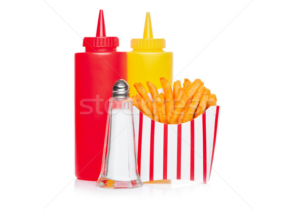 Southern french fries with salt and ketchup Stock photo © DenisMArt