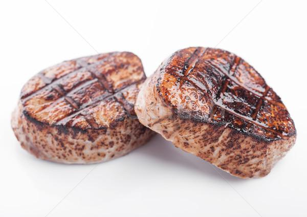 Alla griglia succosa carne carne di maiale bistecca fetta Foto d'archivio © DenisMArt