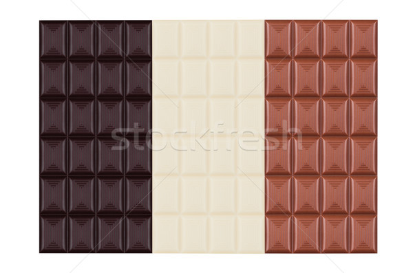 Rácsok fehér tej sötét keserű csokoládé Stock fotó © DenisMArt