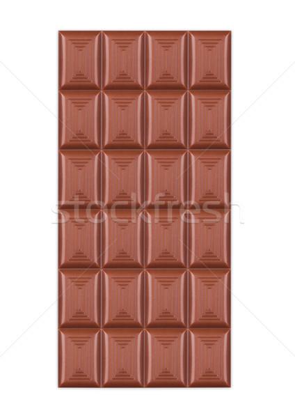 Bar of milk organic sweet chocolate isolated  Stock photo © DenisMArt