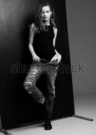 Model test with beautiful fashion model posing Stock photo © DenisMArt