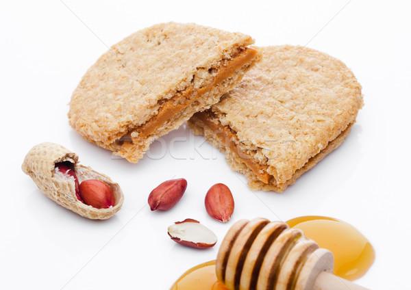 Sağlıklı biyo kahvaltı tahıl bisküvi bal Stok fotoğraf © DenisMArt