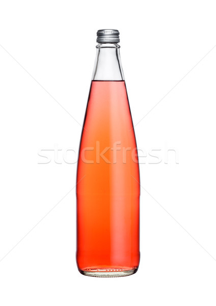 Verre bouteille rose soude limonade Photo stock © DenisMArt