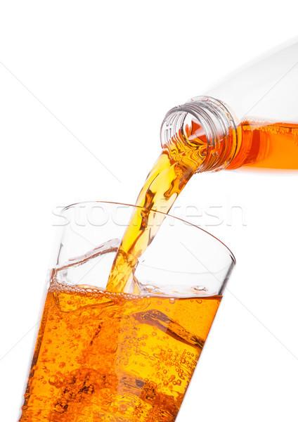Orange bouteille verre énergie Photo stock © DenisMArt