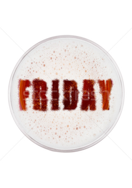 Glass of red ale beer top with friday shape Stock photo © DenisMArt