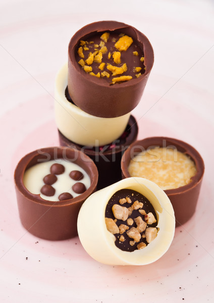 Luxury white and dark chocolate candies variety  Stock photo © DenisMArt