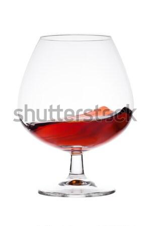 Elegáns üveg brandy konyak alkohol ital Stock fotó © DenisMArt