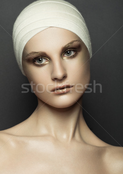красоту девушки повязка пластическая хирургия составляют лице Сток-фото © DenisMArt