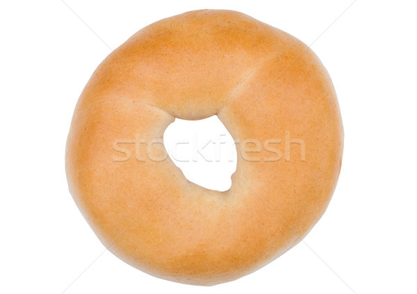 Fresh breakfast bread bagel roll isolated on white Stock photo © DenisMArt