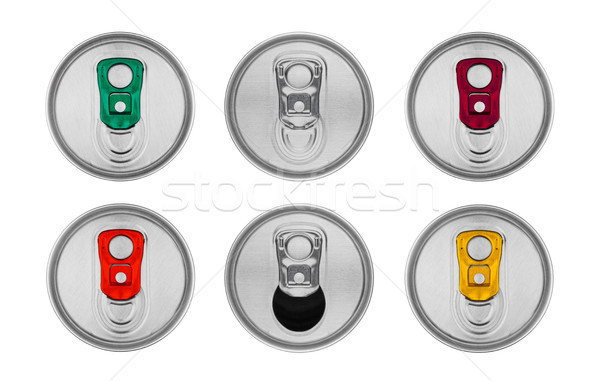 Aluminium soda drinken tin top Stockfoto © DenisMArt