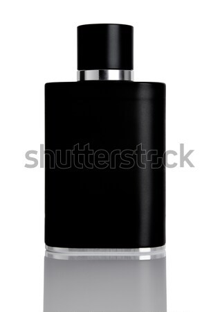 Negro líquido perfume botella reflexión púrpura Foto stock © DenisMArt
