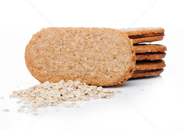 Healthy bio breakfast grain biscuits with oats  Stock photo © DenisMArt
