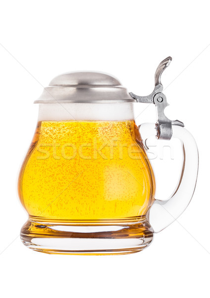 Vintage rétro verre ale bière Photo stock © DenisMArt